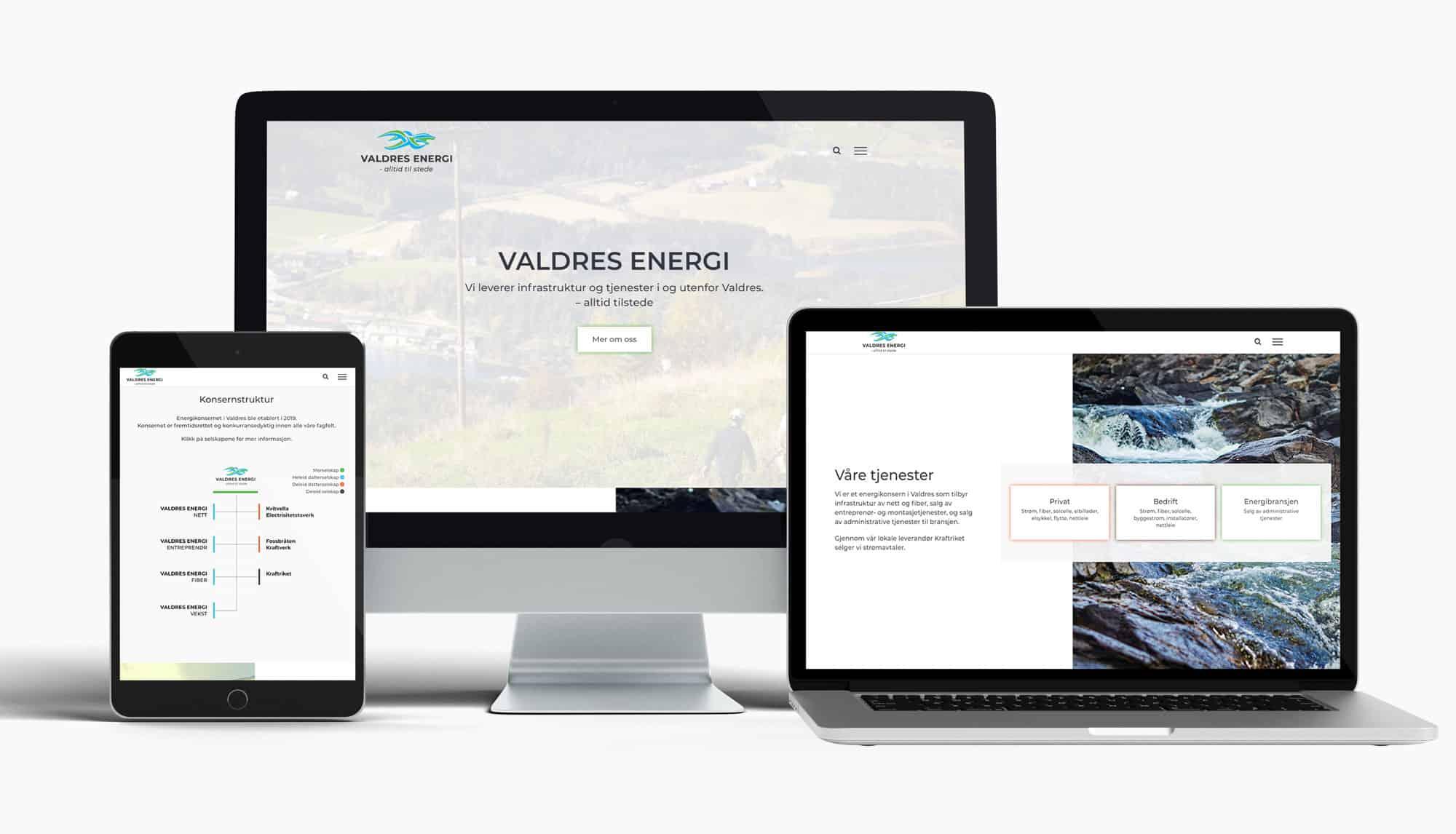 Valdres Energi med ny nettside